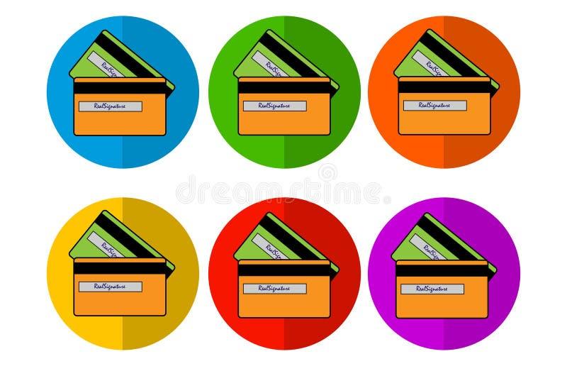 Icone della carta del cerchio immagine stock libera da diritti