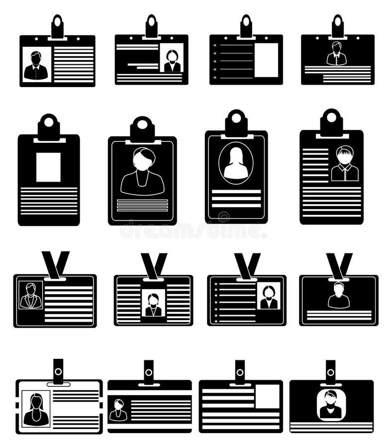 Icone della carta di identità messe royalty illustrazione gratis