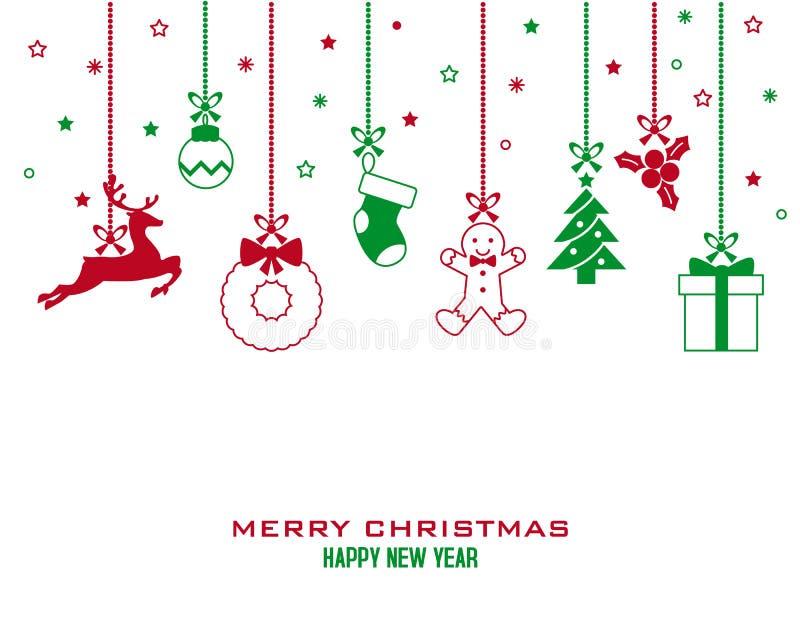 Icone della cartolina di Natale royalty illustrazione gratis