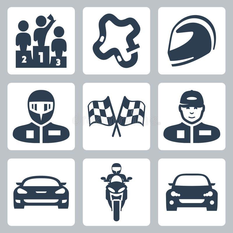 Icone della corsa di vettore royalty illustrazione gratis