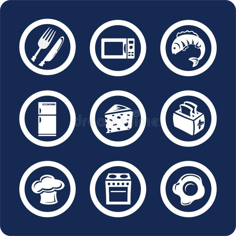 Icone della cucina e dell'alimento (imposti 9, la parte 2) royalty illustrazione gratis