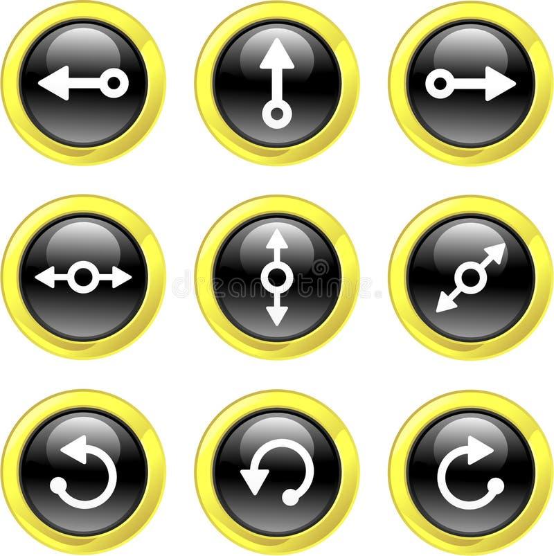 Icone della freccia royalty illustrazione gratis