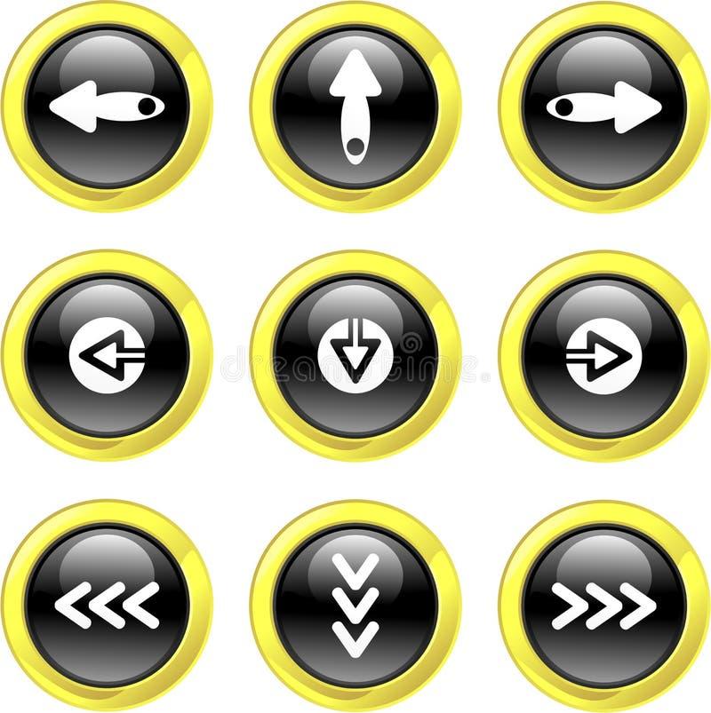 Icone della freccia illustrazione vettoriale