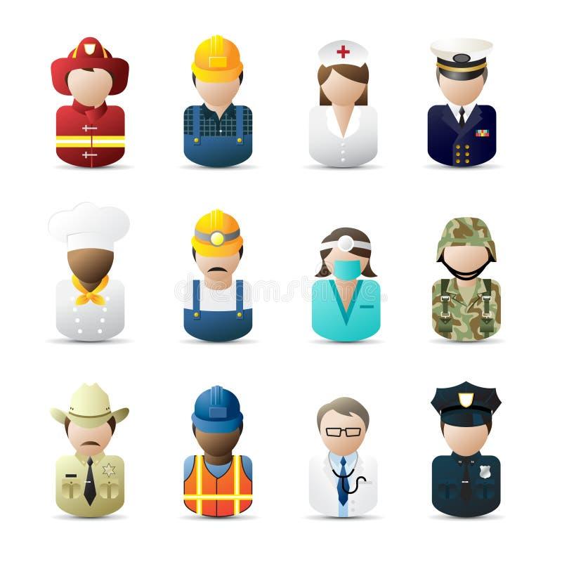 Icone della gente illustrazione vettoriale