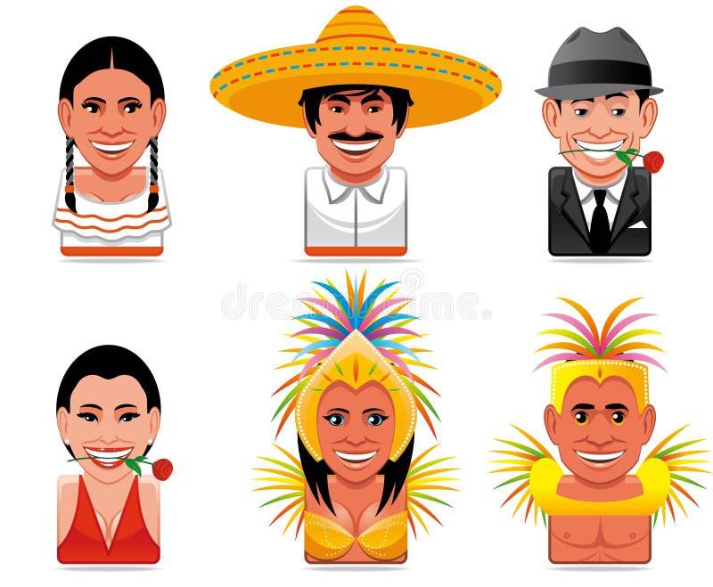 Icone della gente del mondo dell'incarnazione illustrazione vettoriale