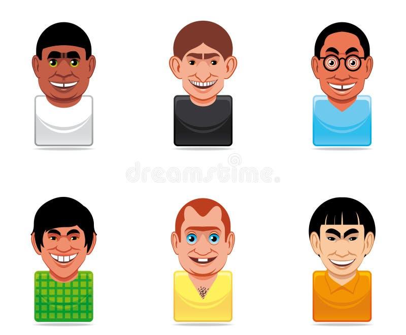 Icone della gente dell'incarnazione royalty illustrazione gratis
