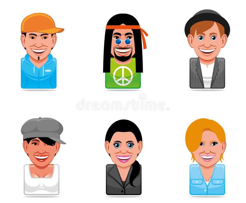 Icone della gente dell'incarnazione illustrazione vettoriale
