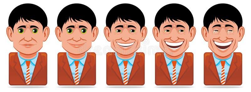 Icone della gente dell'incarnazione (espressioni facciali: felicità) royalty illustrazione gratis