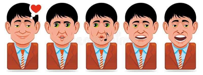 Icone della gente dell'incarnazione (espressioni facciali: nell'amore, wh royalty illustrazione gratis