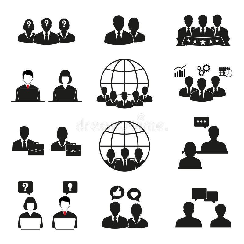 Icone della gente impostate Uomini e donne dell'ufficio royalty illustrazione gratis