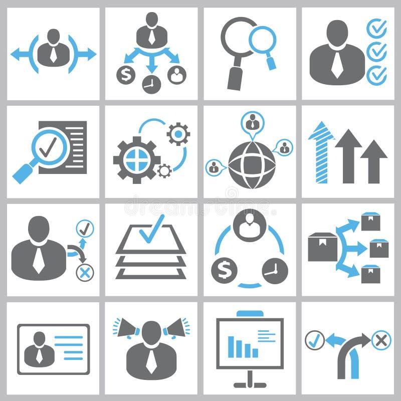 Icone della gestione di impresa illustrazione vettoriale