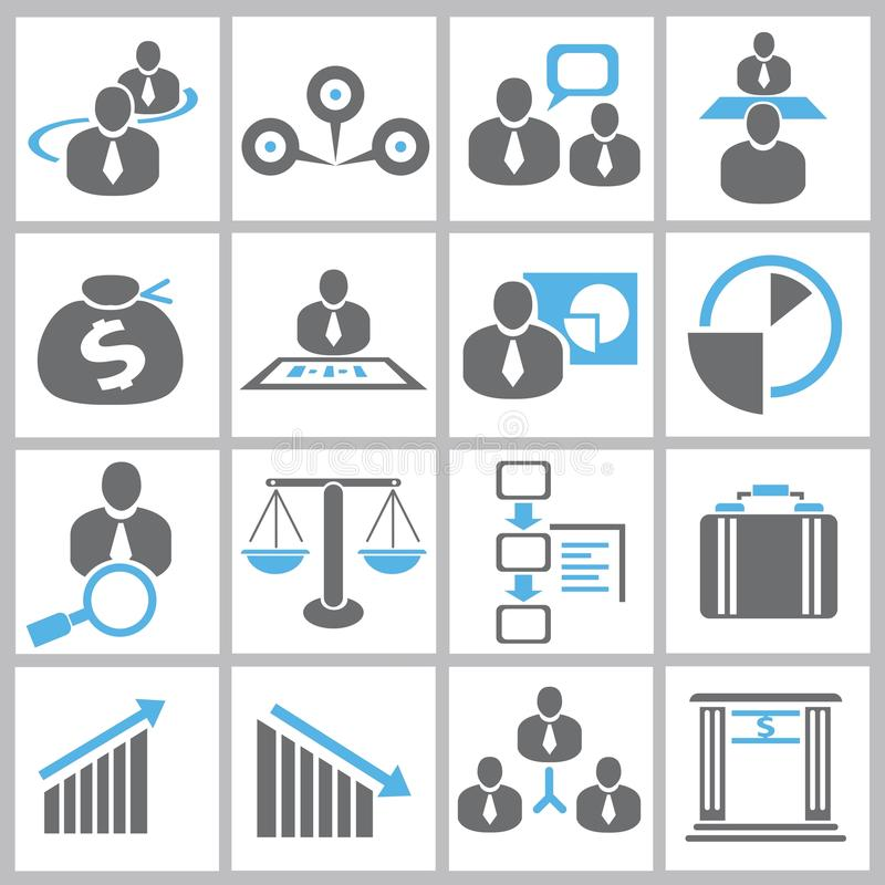 Icone della gestione di impresa royalty illustrazione gratis