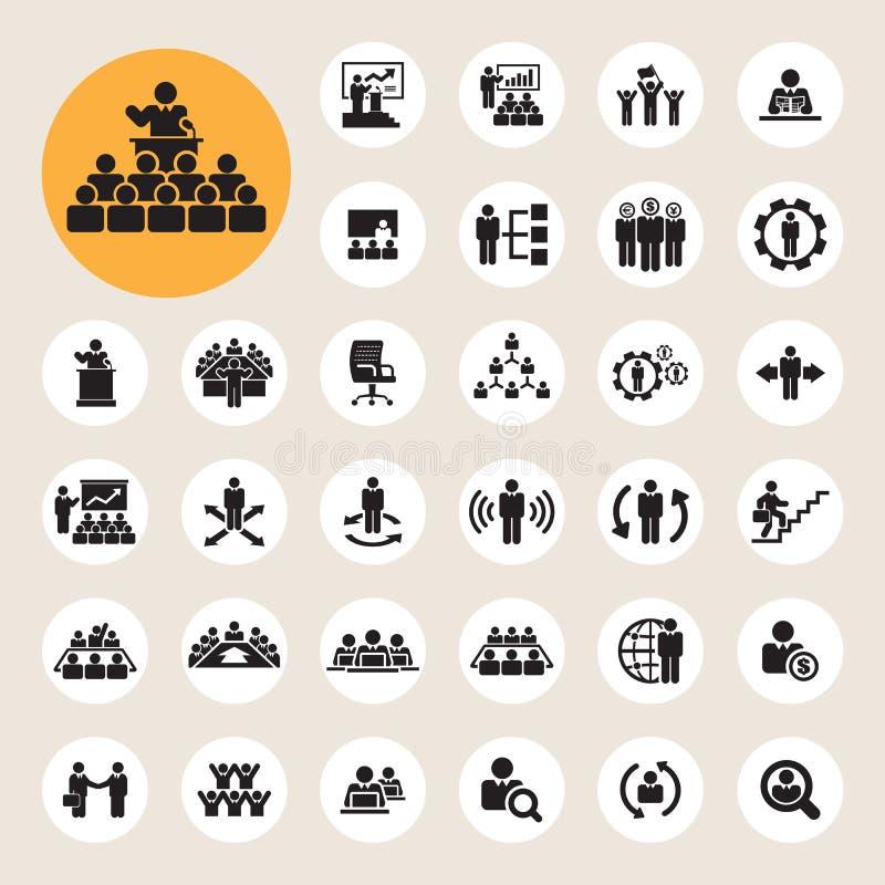 Icone della gestione e di affari messe royalty illustrazione gratis