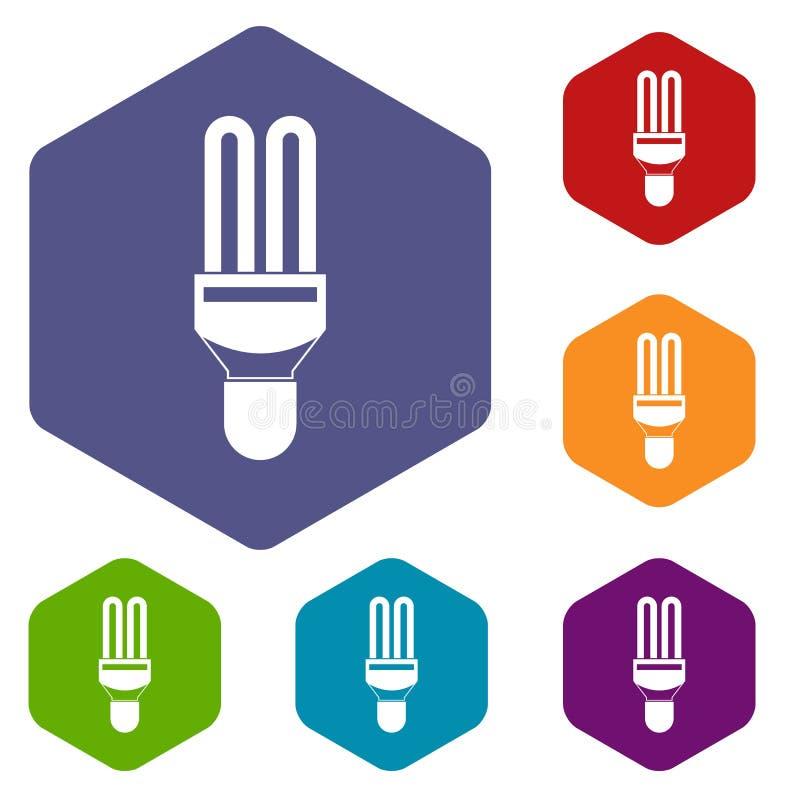 Download Icone Della Lampada Di Fluorescenza Messe Illustrazione Vettoriale - Illustrazione di elettricità, invenzione: 117979096
