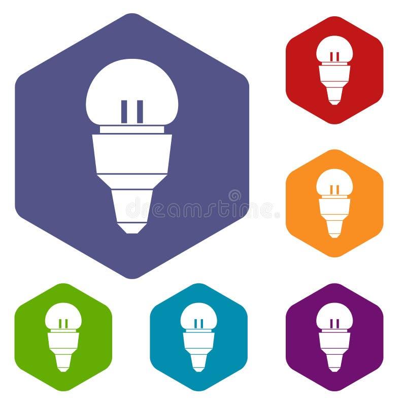 Download Icone Della Lampadina Del Riflettore Messe Illustrazione Vettoriale - Illustrazione di innovazione, energia: 117979094