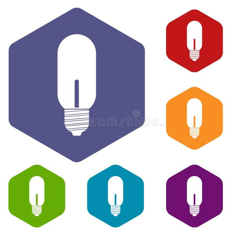 Download Icone Della Lampadina Messe Illustrazione Vettoriale - Illustrazione di elettrico, luminosità: 117979093