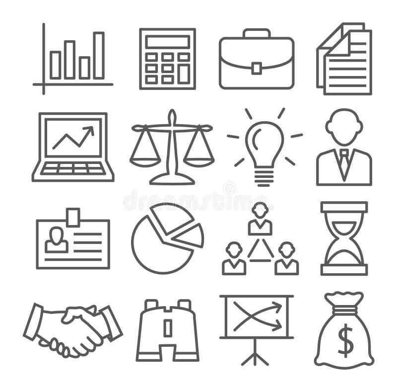 Icone della linea di business royalty illustrazione gratis
