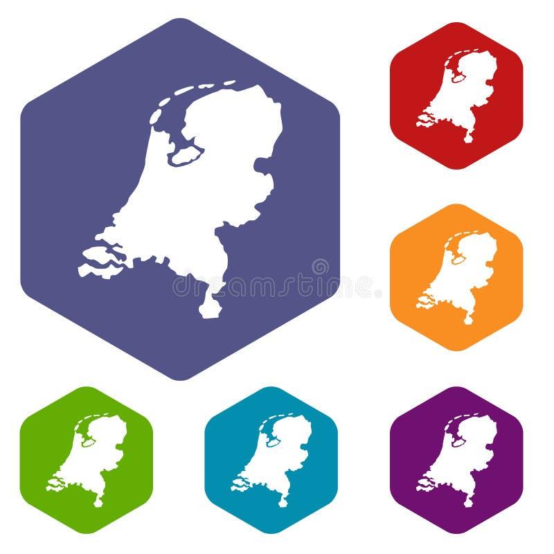 Download Icone Della Mappa Dell'Olanda Messe Illustrazione Vettoriale - Illustrazione di programma, naturalizzato: 117979080