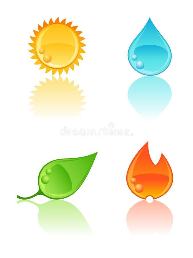 Icone della natura. illustrazione di stock