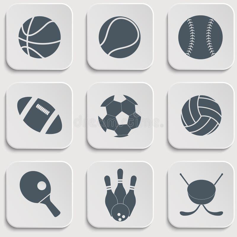 Download Icone della palla di sport illustrazione vettoriale. Illustrazione di gioco - 56893302