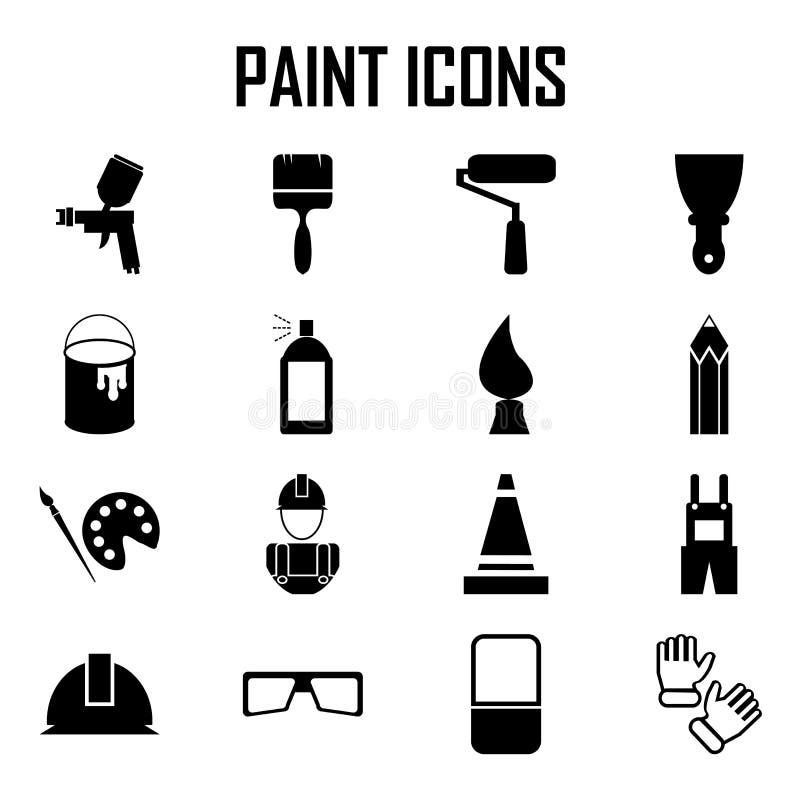 Icone della pittura illustrazione di stock