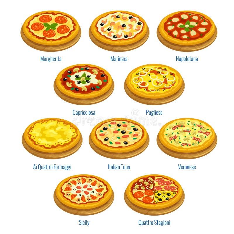 Icone della pizza elementi italiani del menu di cucina for B cucina e pizza