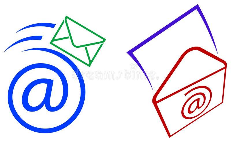 Icone della posta illustrazione vettoriale