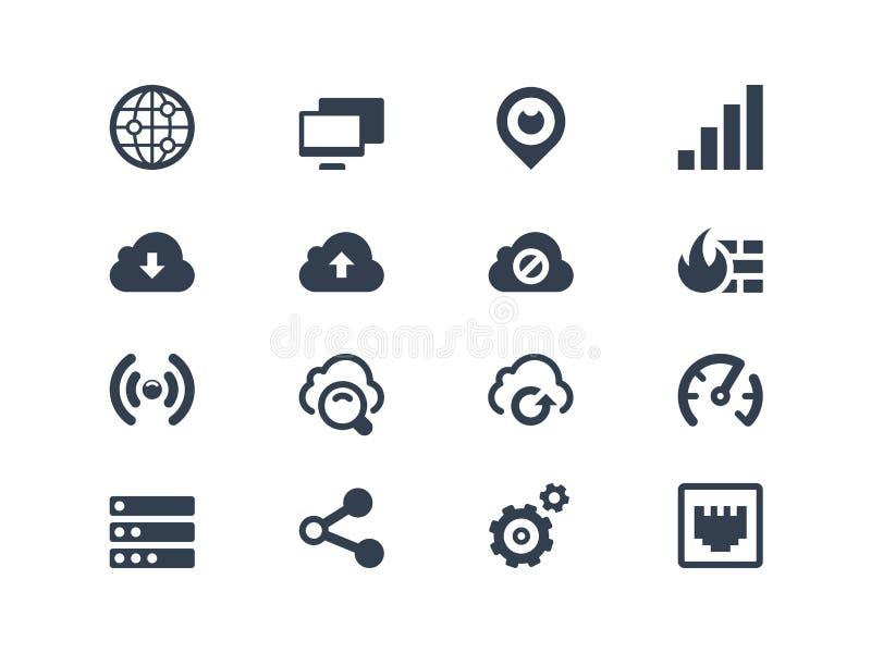 Icone della rete illustrazione vettoriale