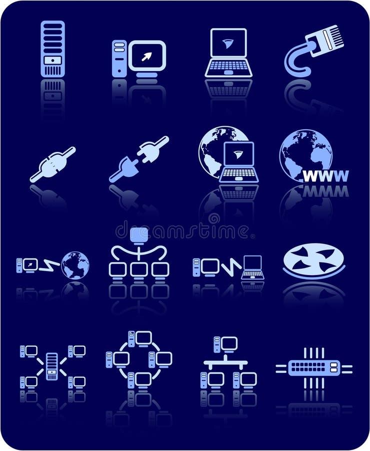 Icone della rete royalty illustrazione gratis