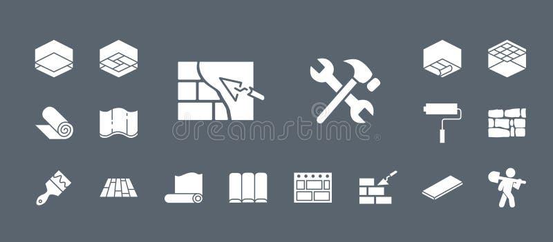 Icone della riparazione & della costruzione - metta il web & il cellulare 05 illustrazione vettoriale