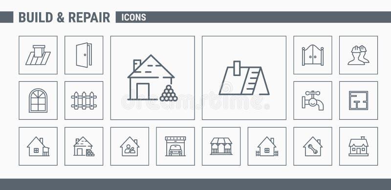 Icone della riparazione & della costruzione - metta il web & il cellulare 02 royalty illustrazione gratis