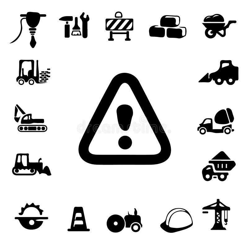 Icone della siluetta della costruzione immagini stock libere da diritti