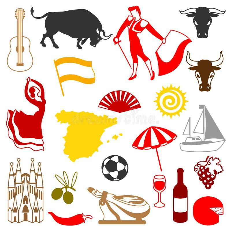 Icone della spagna messe simboli ed oggetti tradizionali for Oggetti tradizionali cinesi