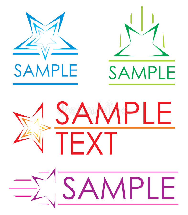 Icone della stella royalty illustrazione gratis