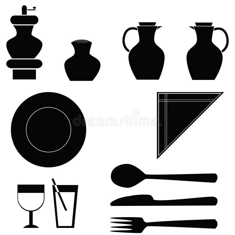 Icone della Tabella illustrazione vettoriale