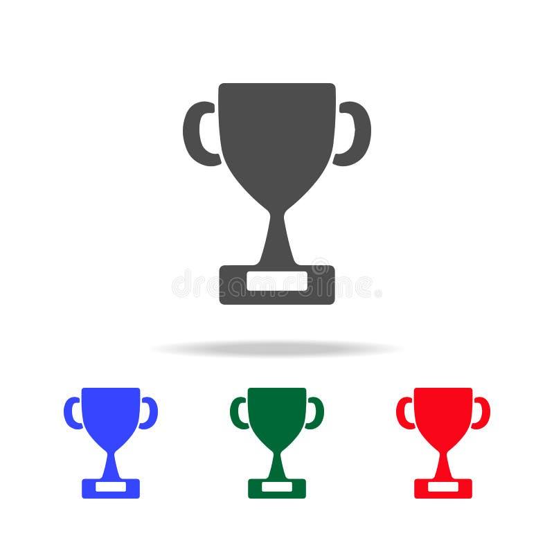 Icone della tazza del trofeo del vincitore Elementi dell'elemento di sport nelle multi icone colorate Icona premio di progettazio illustrazione di stock