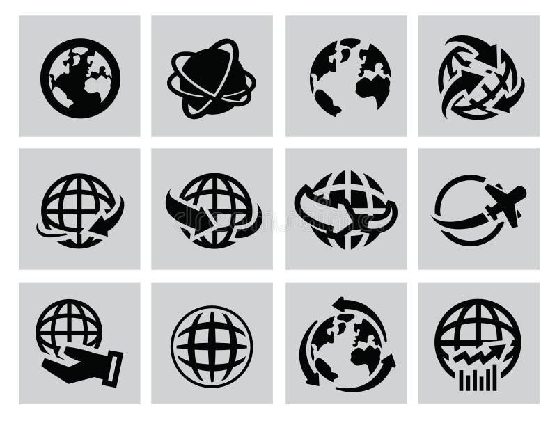Icone della terra illustrazione vettoriale