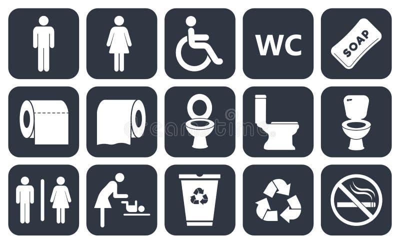 Icone della toilette royalty illustrazione gratis