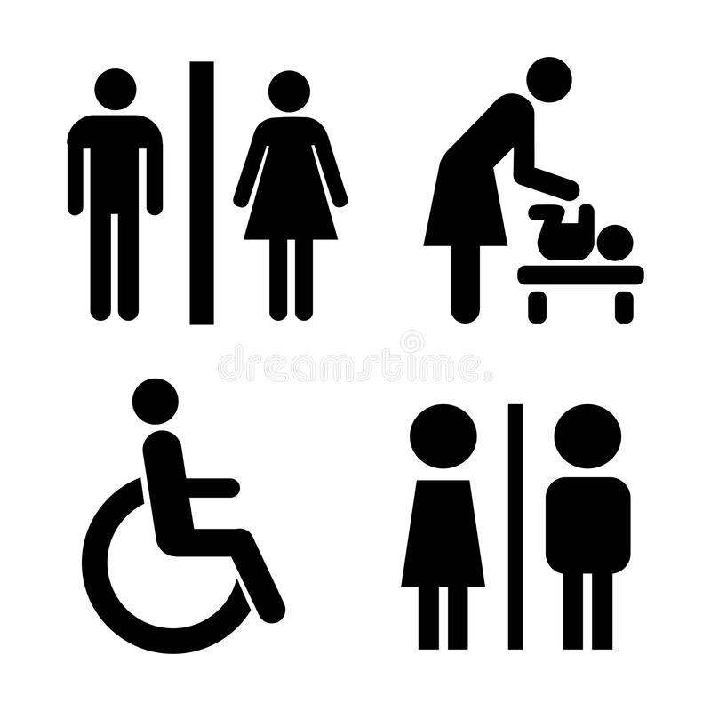 Icone della toilette di vettore illustrazione vettoriale
