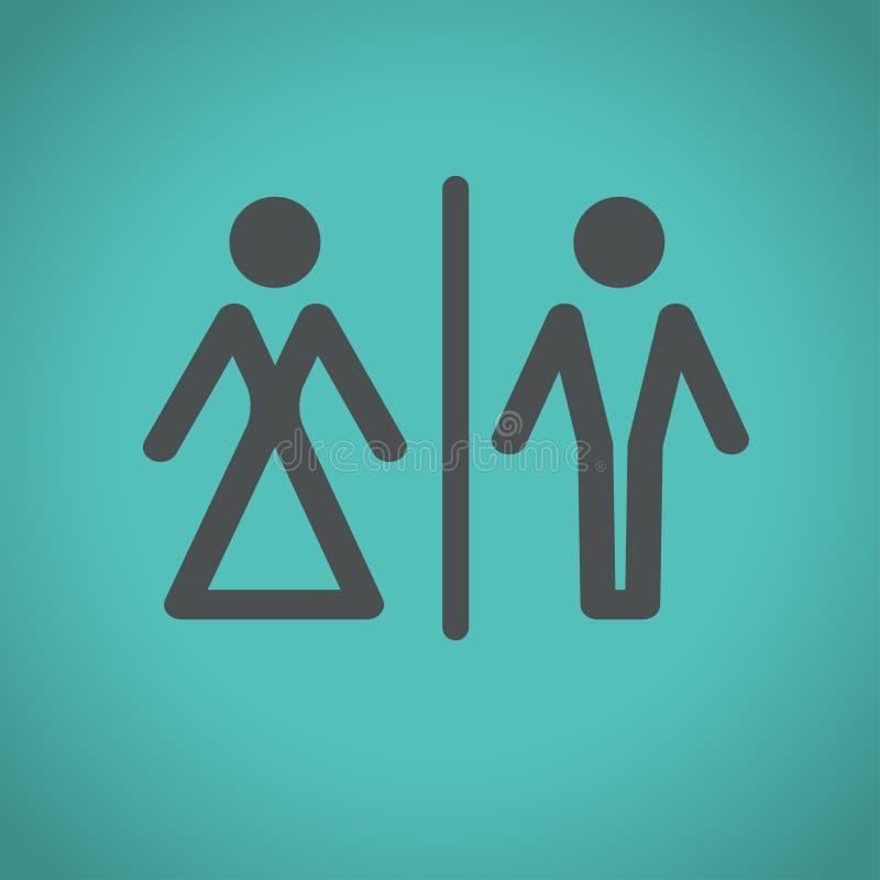 Icone della toilette, illustrazione di vettore illustrazione vettoriale