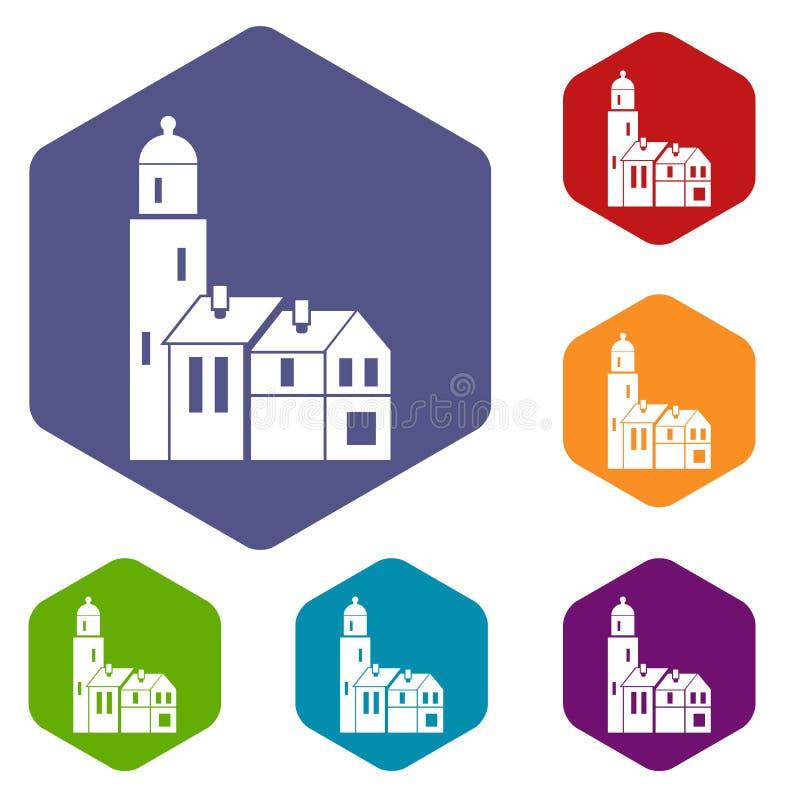 Download Icone Delle Camere Impostate Illustrazione Vettoriale - Illustrazione di domestico, portello: 117979062