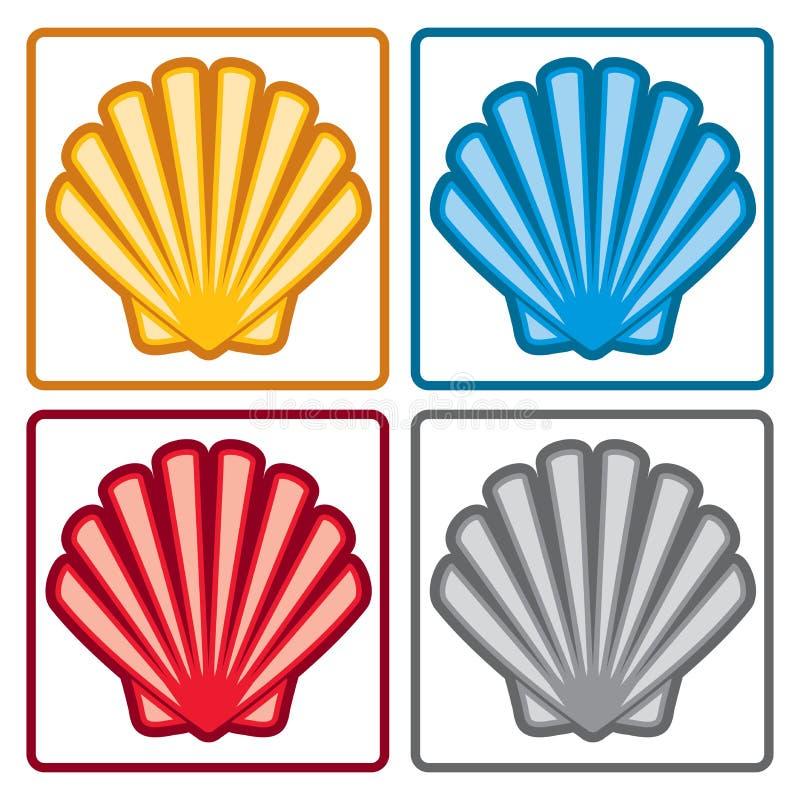 Icone delle coperture del mare Vettore royalty illustrazione gratis