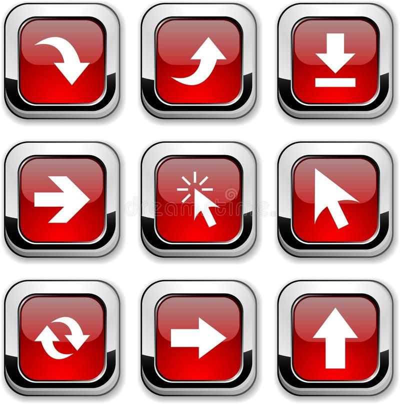 Icone delle frecce. illustrazione di stock