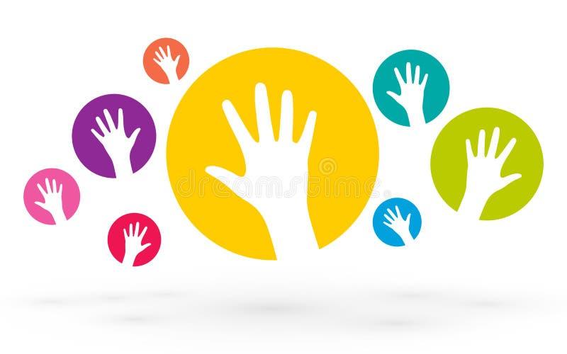 Icone delle mani umane royalty illustrazione gratis