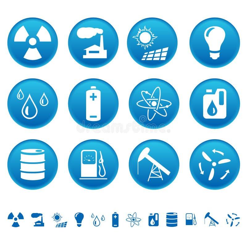 Icone delle risorse & di energia royalty illustrazione gratis