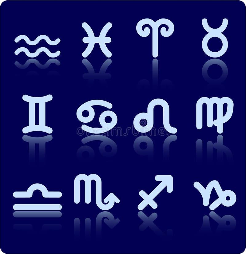 Icone dello zodiaco fotografie stock