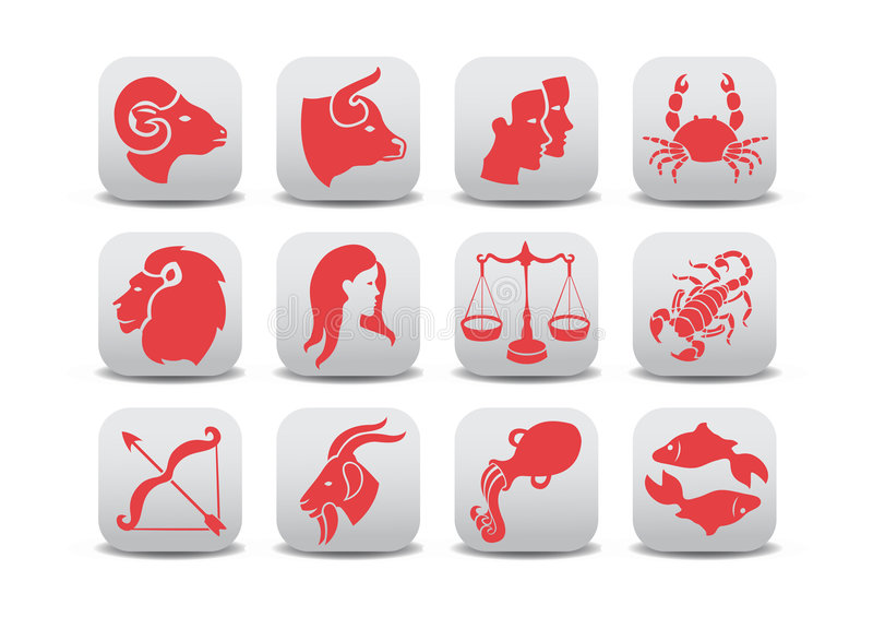 Icone dello zodiaco illustrazione di stock