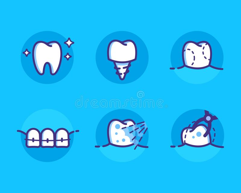 Icone dentali royalty illustrazione gratis