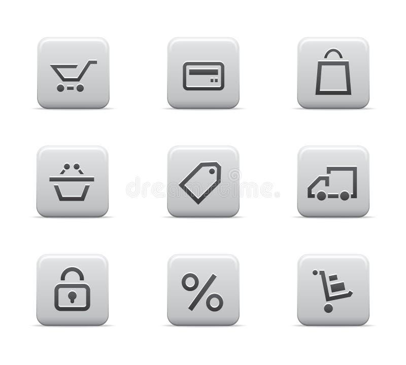 Icone di acquisto immagine stock libera da diritti