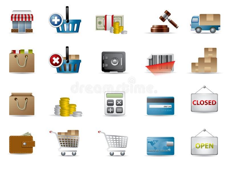 Icone di acquisto illustrazione vettoriale